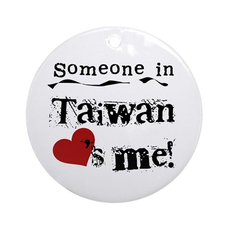 Taiwan Loves Me Ornament (Round)