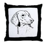 Dachsund Throw Pillow