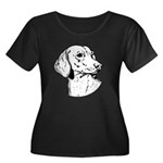 Dachsund Women's Plus Size Scoop Neck Dark T-Shirt
