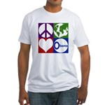 Peace, Earth, Love, Obama Fitted T-Shirt