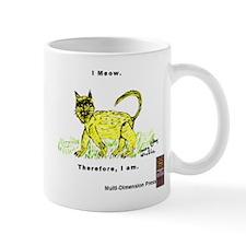 "Yellow / Gray ""I Meow"" Cat Mug"