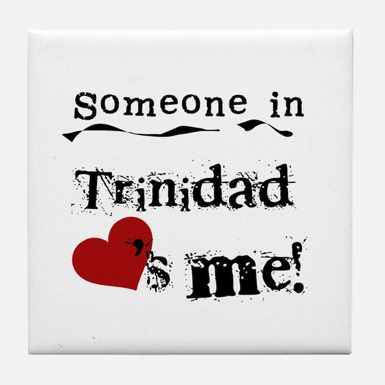 Trinidad Loves Me Tile Coaster