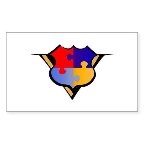 APV Puzzle V Logo Rectangle Sticker