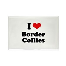 I love Border Collies Rectangle Magnet