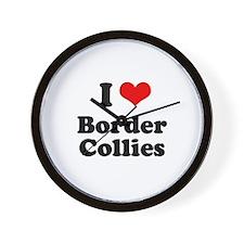 I love Border Collies Wall Clock