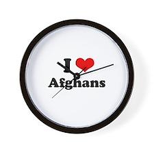 I love Afghans Wall Clock