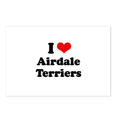 I love Airdale Terriers Postcards (Package of 8)