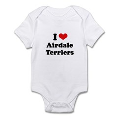 I love Airdale Terriers Infant Bodysuit