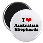 I Love Australian Shepherds Magnet