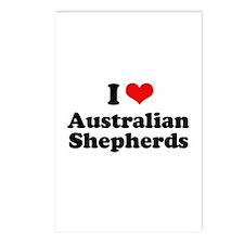 I Love Australian Shepherds Postcards (Package of