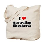 I Love Australian Shepherds Tote Bag