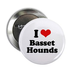 I Love Basset Hounds 2.25