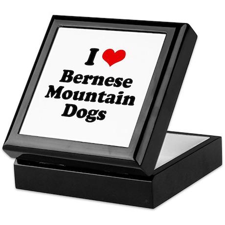 I Love Bernese Mountain Dogs Keepsake Box