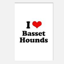I Love Basset Hounds Postcards (Package of 8)