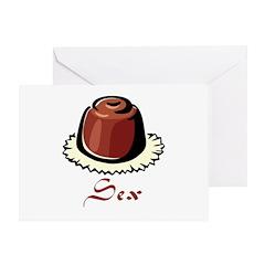 Chocolate Sin Greeting Card