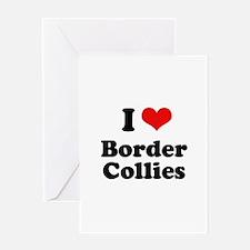 I heart Border Collies Greeting Card