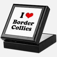 I heart Border Collies Keepsake Box