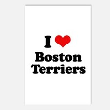 I Love Boston Terriers Postcards (Package of 8)