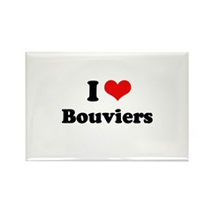 I Love Bouviers Rectangle Magnet