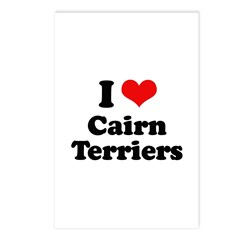 I Love Cairn Terriers Postcards (Package of 8)