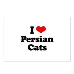 I Love Persian Cats Postcards (Package of 8)