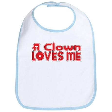 A Clown Loves Me Bib