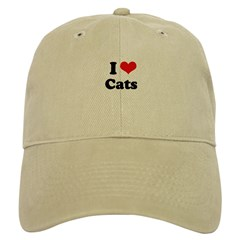 I Love Cats Baseball Cap