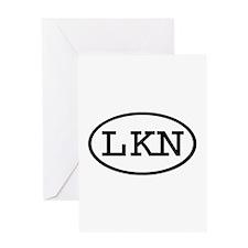 LKN Oval Greeting Card
