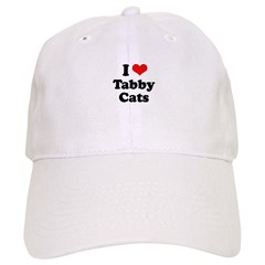 I Love Tabby Cats Cap