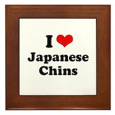 I Love Japanese Chins Framed Tile
