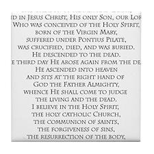 Creeds of Faith Tile Coaster