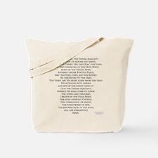Creeds of Faith Tote Bag