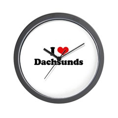 I Love Dachsunds Wall Clock