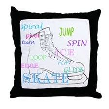 Figure Skating Throw Pillow