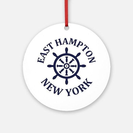 Cool Hamptons Round Ornament