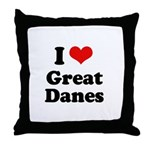 I Love Great Danes Throw Pillow