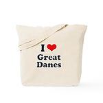 I Love Great Danes Tote Bag
