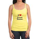 I Love Great Danes Jr. Spaghetti Tank