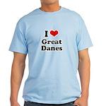 I Love Great Danes Light T-Shirt