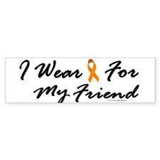 I Wear Orange For My Friend 1 Bumper Bumper Sticker