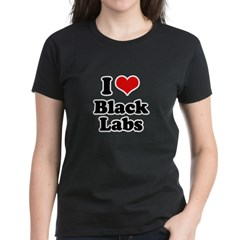 I Love Black Labs Tee