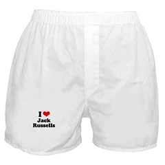 I Love Jack Russells Boxer Shorts