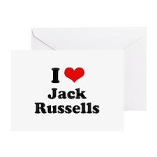 I Love Jack Russells Greeting Card