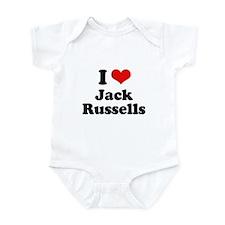 I Love Jack Russells Infant Bodysuit