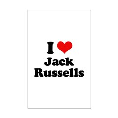I Love Jack Russells Posters
