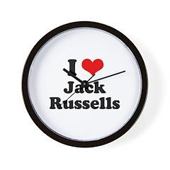 I Love Jack Russells Wall Clock