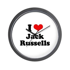 I Love Jack Russells Wall Clock