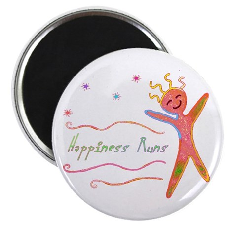 "Happiness Runs 2.25"" Magnet (10 pack)"