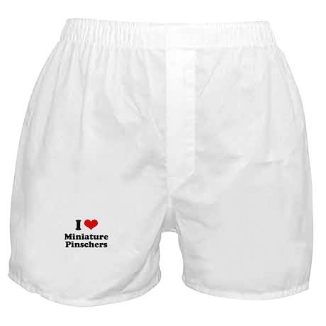 I Love Miniature Pinschers Boxer Shorts