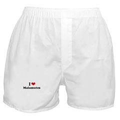 I Love Malamutes Boxer Shorts